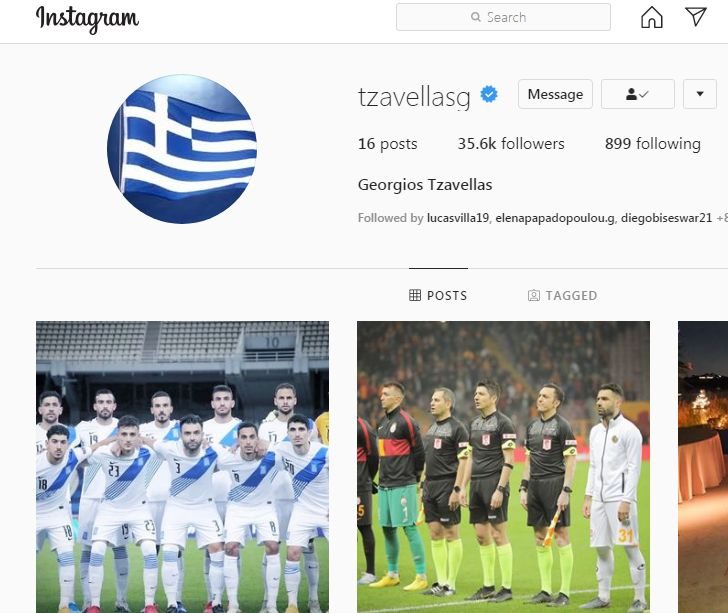 Giorgs Tzavellas Instagram