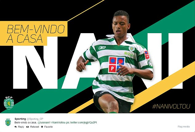 1408523451644 wps 1 Nani joins Sporting Lisbo
