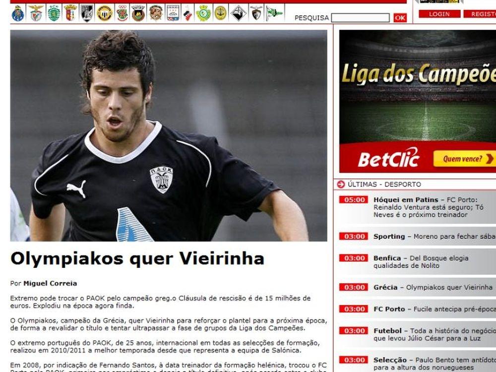 Βιεϊρίνια μέσω... Πορτογαλίας