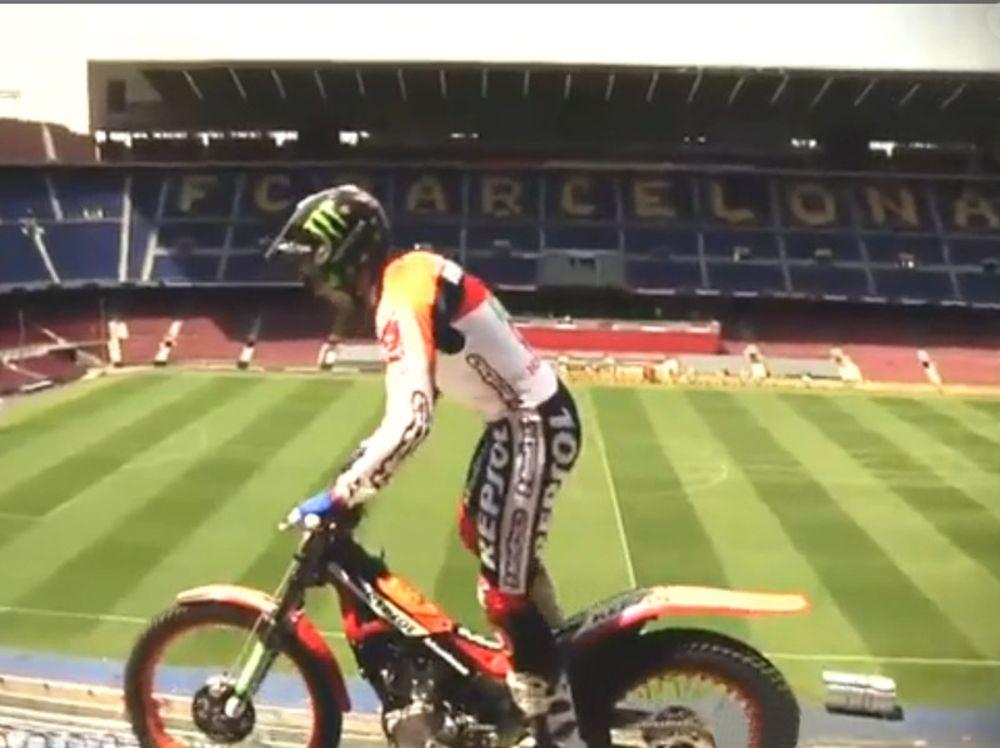 Ο Toni Bou στο Camp Nou