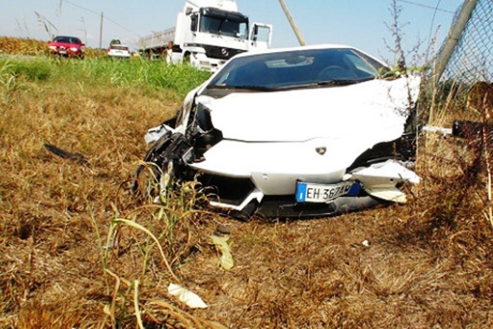 Το πρώτο ατύχημα της Aventador