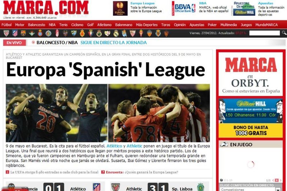 Aθλέτικ-Ατλέτικο: Τα ισπανικά και πορτογαλικά ΜΜΕ για τον τελικό του Europa!