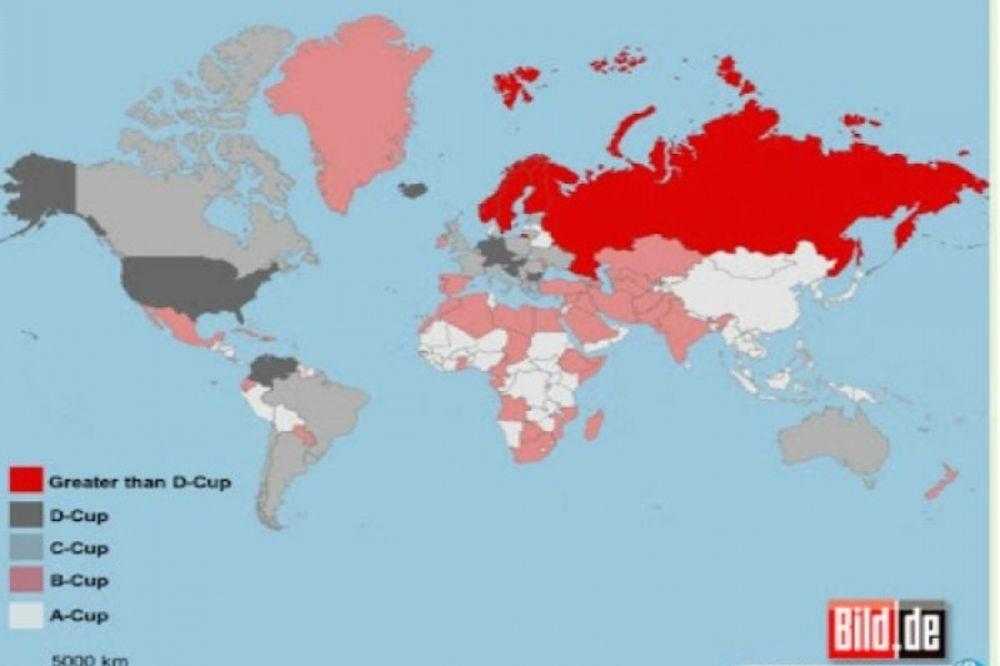 Παγκόσμιος χάρτης γυναικείου... στήθους!