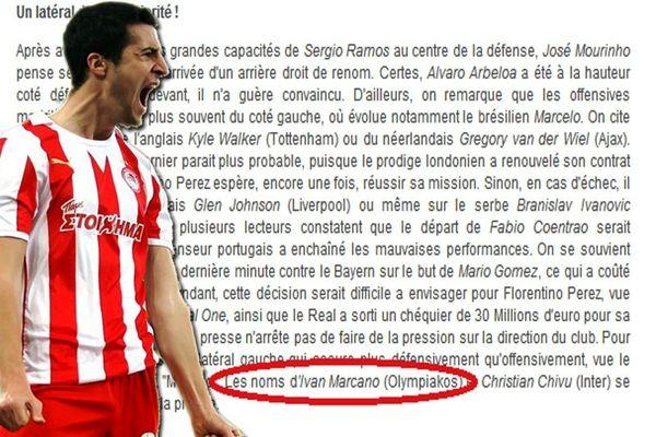 Στη λίστα της Ρεάλ (!) ο Ιβάν Μαρκάνο...;
