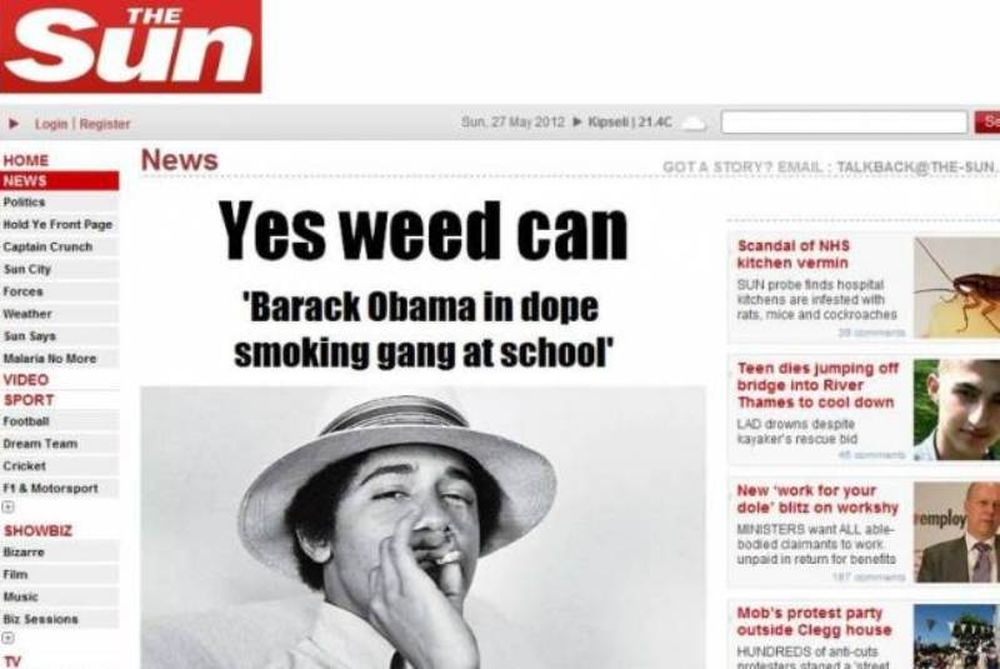 Sun: Τα μαθητικά χρόνια του Ομπάμα και η μαριχουάνα