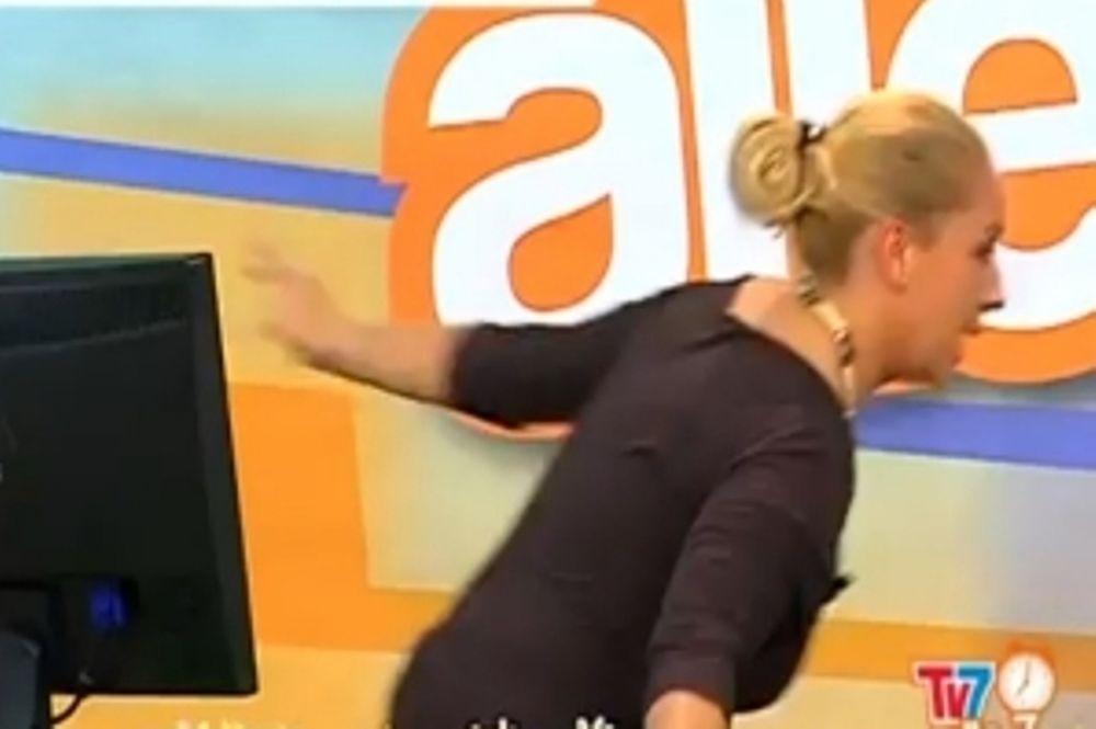 Παρουσιάστρια έτρεξε να σωθεί από τον σεισμό (video)