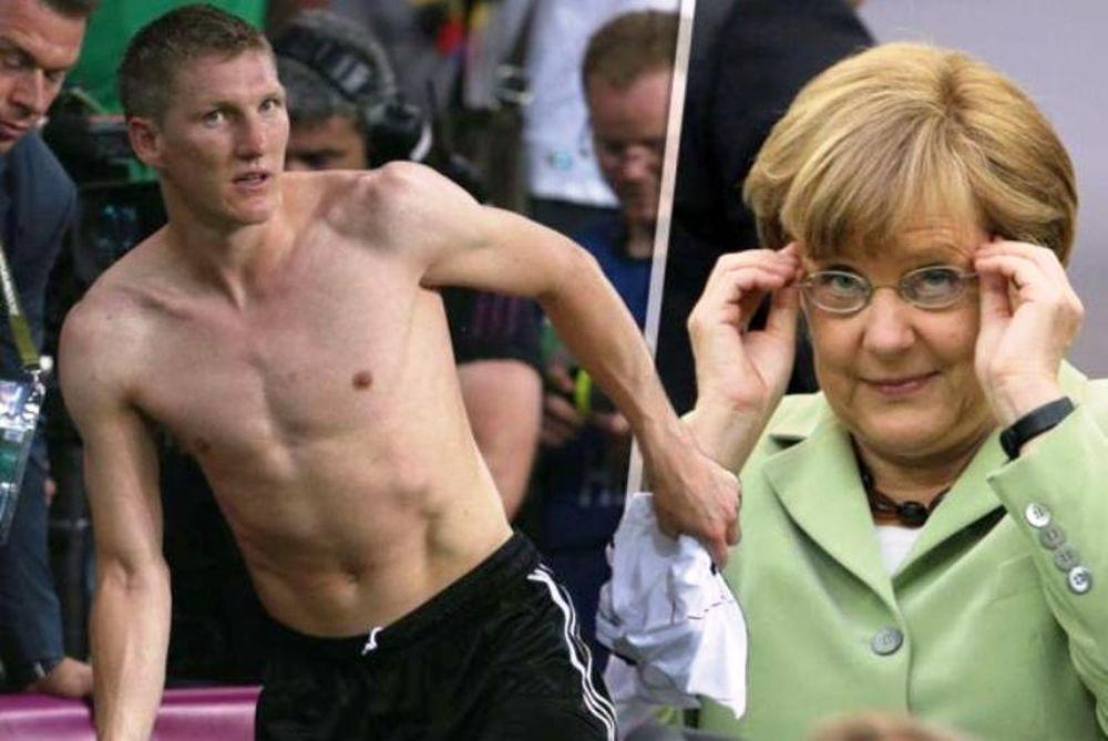 Euro 2012: Ομιλία η Μέρκελ, ντους ο Σβαϊνστάιγκερ