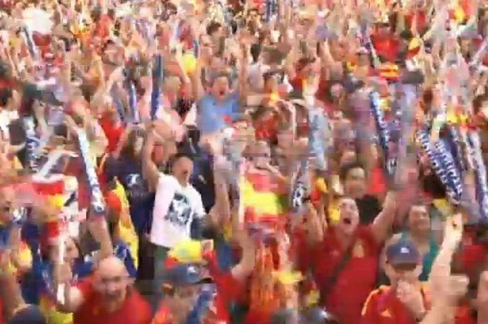 Euro 2012: Το… έκαψαν στη Μαδρίτη οι Ισπανοί! (video)