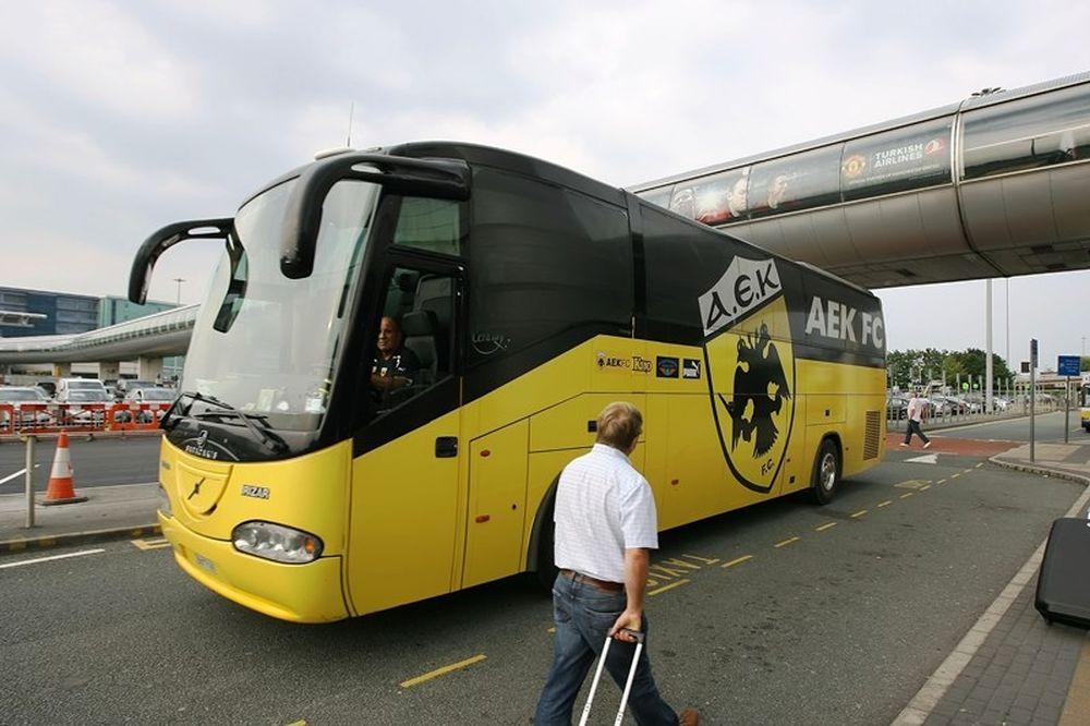 Έφτασε στην Αγγλία η ΑΕΚ (photos)