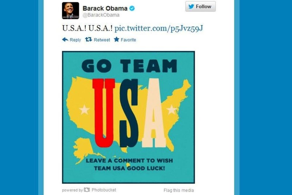 Ολυμπιακοί Αγώνες 2012: Μήνυμα στήριξης από Ομπάμα