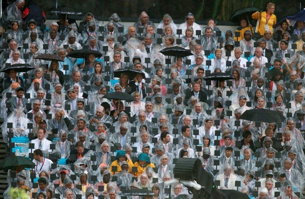 Ολυμπιακοί Αγώνες - Τελετή έναρξης: Η βροχή δεν έλειψε...(photos)