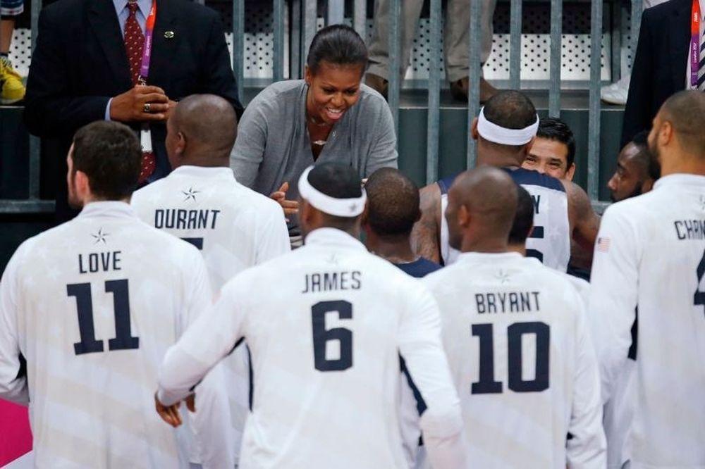 Oλυμπιακοί Αγώνες 2012 - Μπάσκετ: Στην αγκαλιά της Μισέλ Ομπάμα (photos)