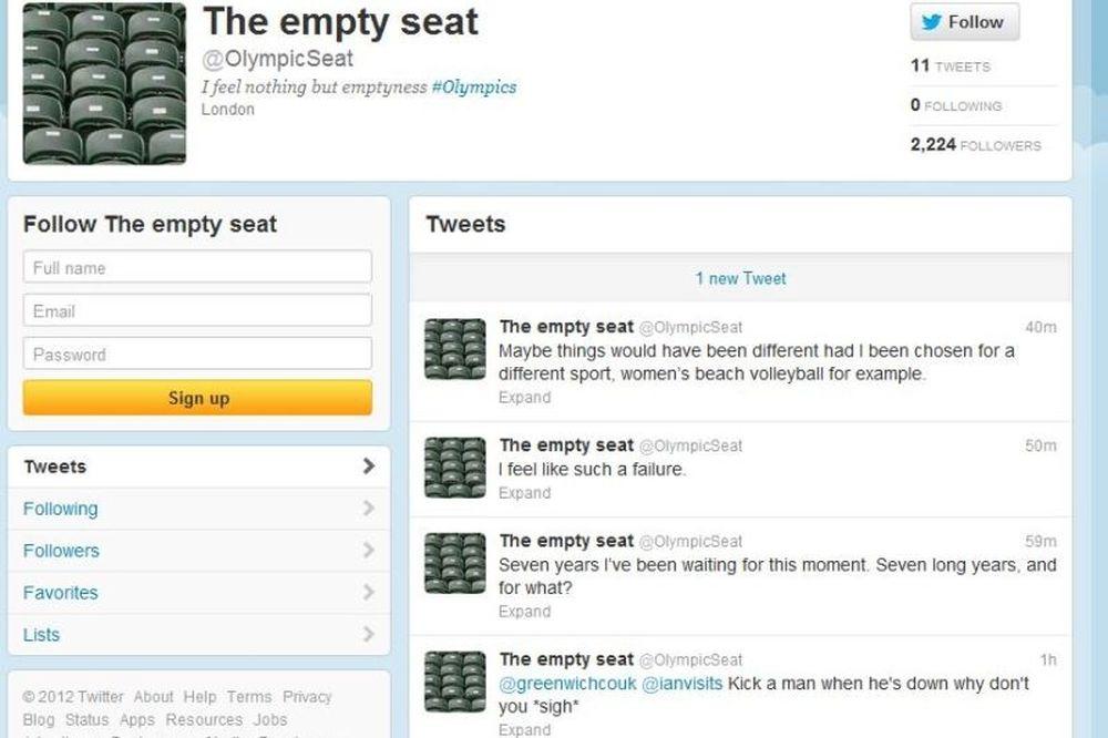 Λονδίνο 2012: To «τιτίβισμα» ενός άδειου καθίσματος…