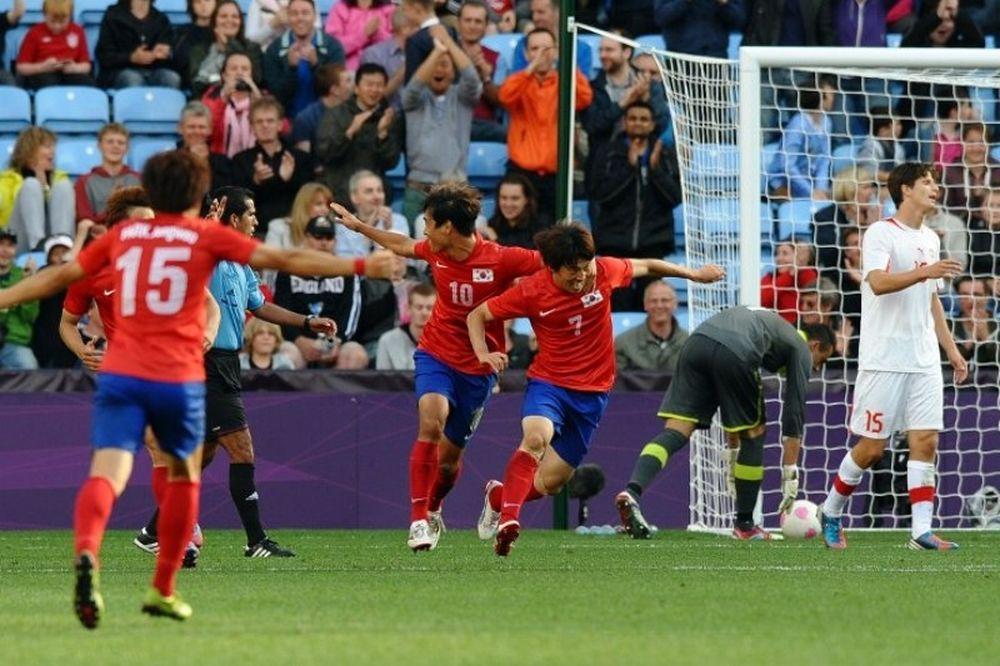 Λονδίνο 2012: Ποδόσφαιρο: Ν. Κορέα-Ελβετία 2-1