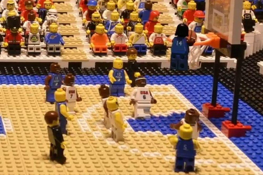 Η νίκη της Dream Team επί της Γαλλίας σε… Lego (video)