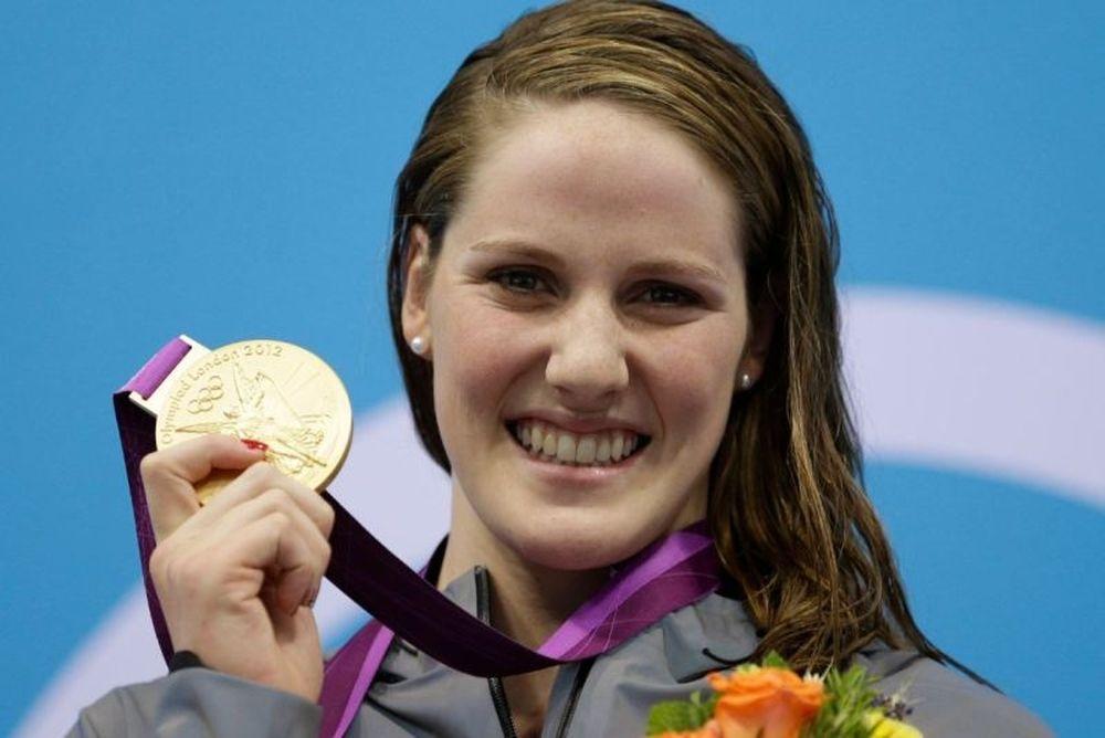 Ολυμπιακοί Αγώνες 2012: Κολύμβηση: Ο Τζάστιν Μπίμπερ φαν της Μίσι Φράνκλιν