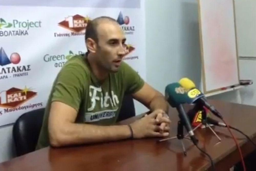 Τσούτσος: «Δουλεύουμε σκληρά στα Τρίκαλα» (video)