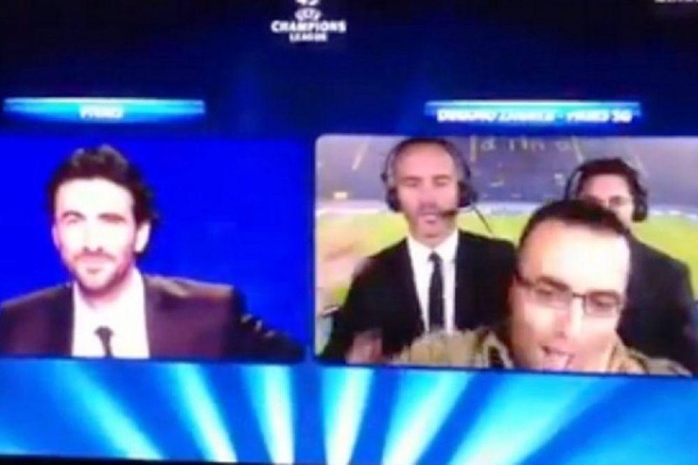Εισβολή οπαδού σε live εκπομπή! (video)