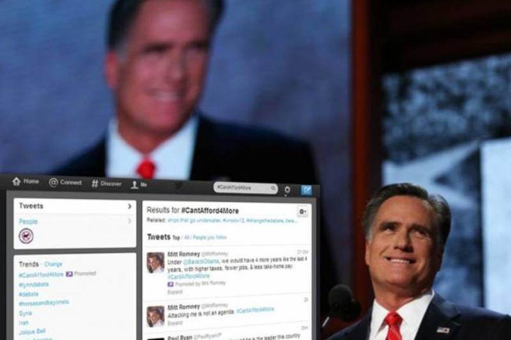 Ο Ρόμνεϊ «πόνταρε» στο Twitter για να κερδίσει τον Ομπάμα