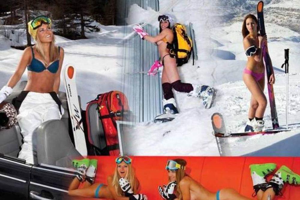 Σέξι κορίτσια κάνουν... σκι με τα εσώρουχα!