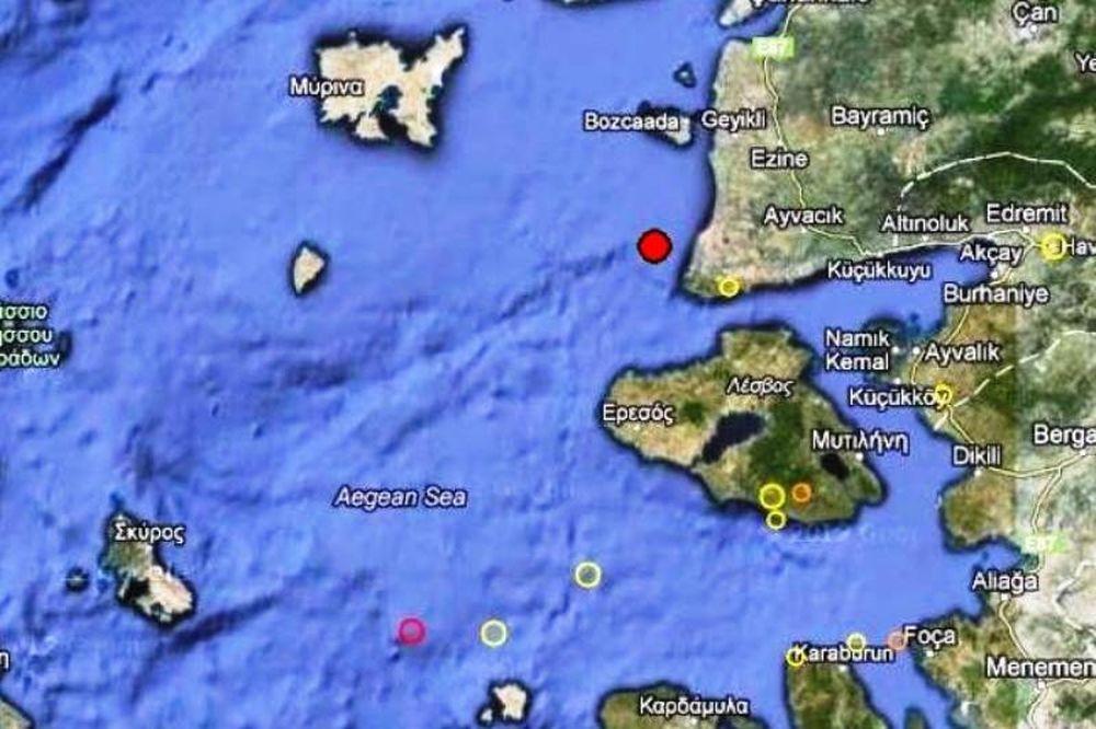Σεισμός 3,9 Ρίχτερ βόρεια της Λέσβου