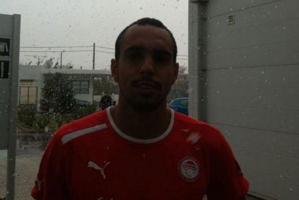 Ολυμπιακός: «Θαμπώθηκε» από το χιόνι ο Ντιόγκο!