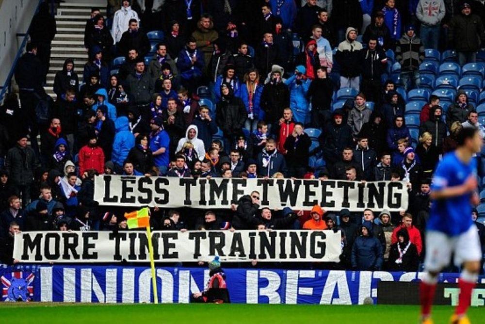 Ρέιντζερς: «Διαμαρτυρία» στο Άιμπροξ για το… tweeting των παικτών!