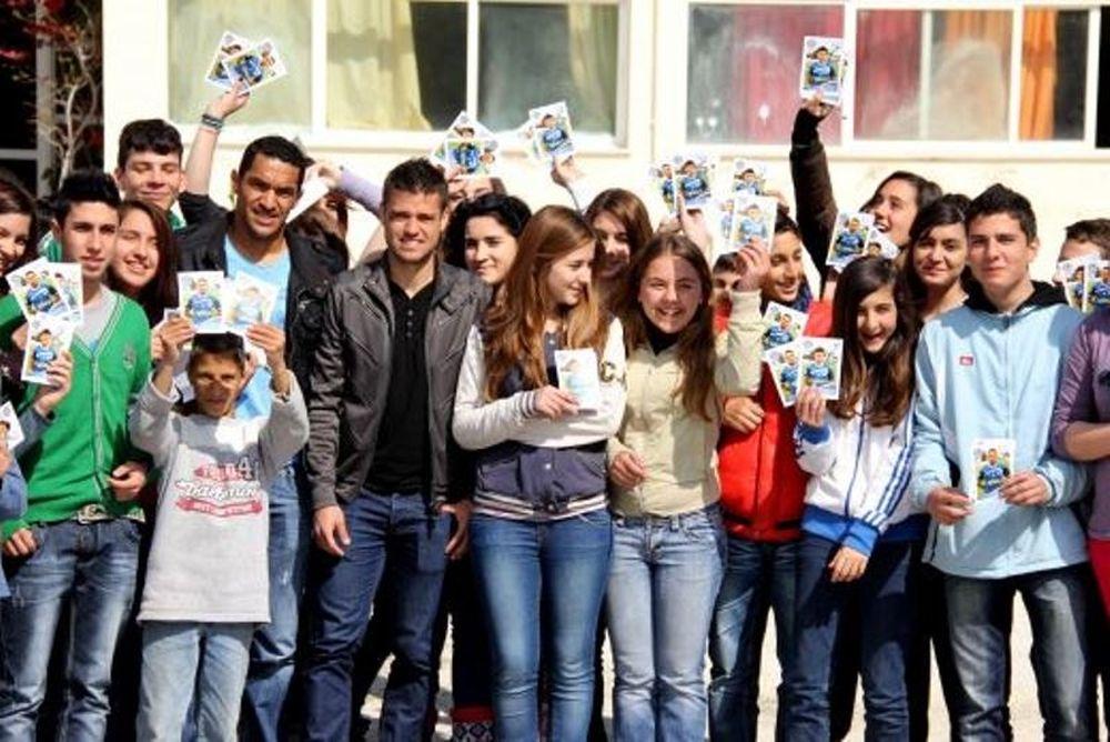 ΑΕΛ Καλλονής: Επισκέφτηκαν σχολείο οι ποδοσφαιριστές