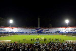 Νασιονάλ: Η μεγαλύτερη σημαία σε αθλητικό γεγονός (video)