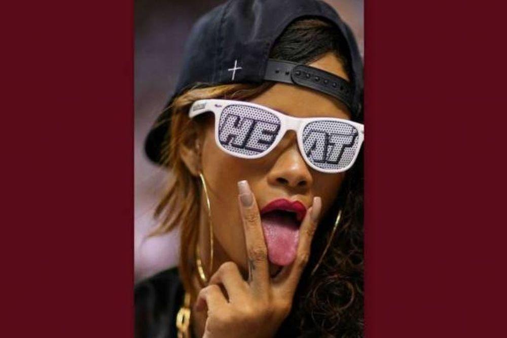 Φανατική οπαδός των Μαϊάμι Χιτ η Rihanna!