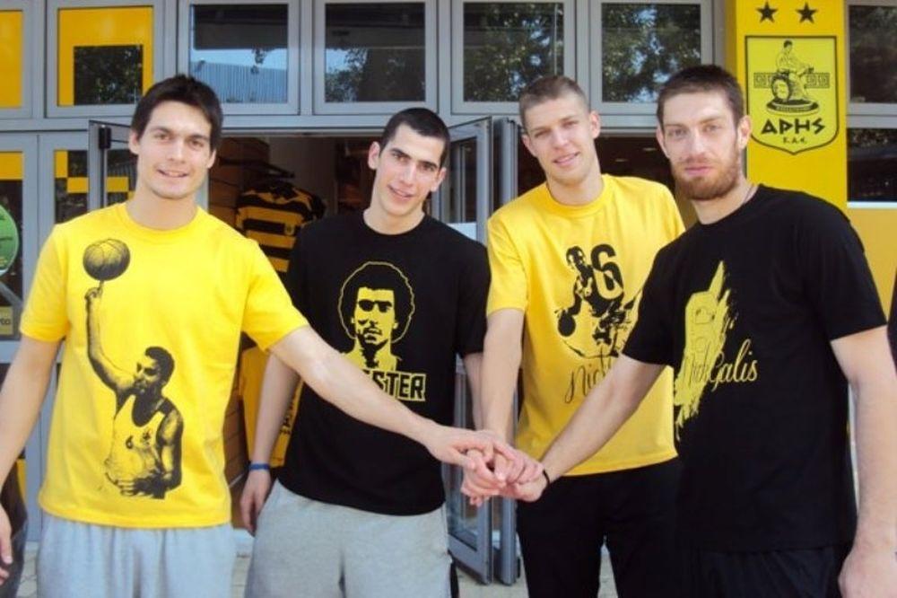 Άρης: Τα μπλουζάκια για το Νίκο Γκάλη (photos)