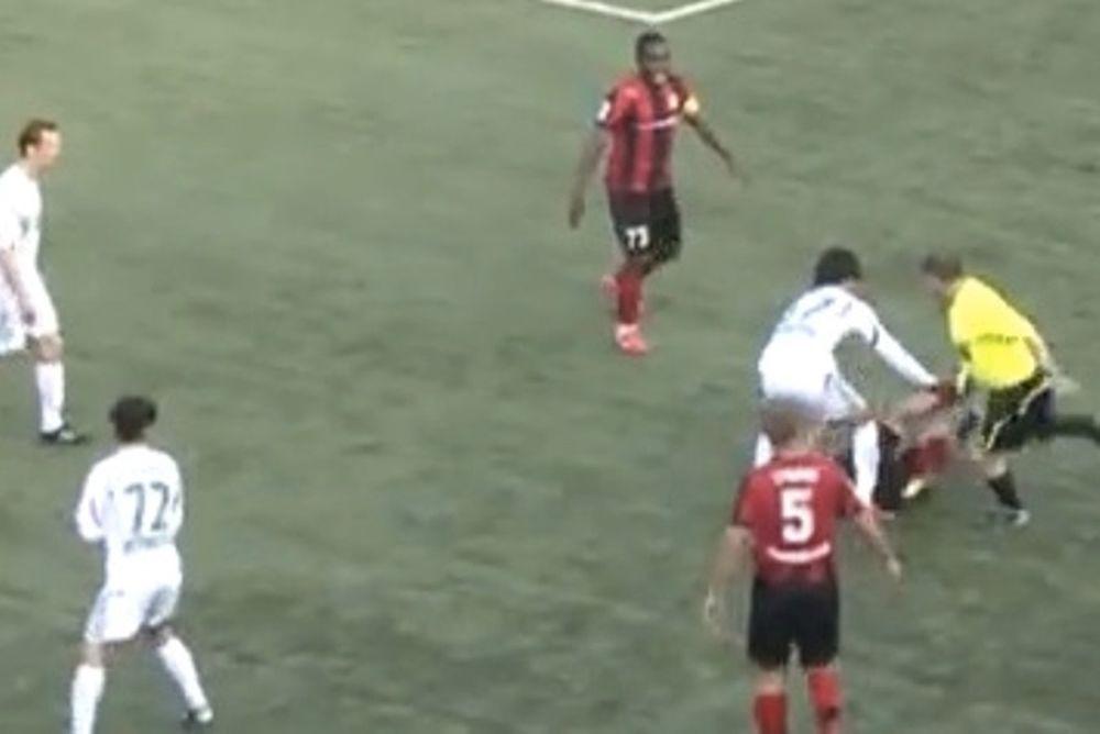 Ρωσία: Επόπτης ξυλοκόπησε ποδοσφαιριστή! (video)