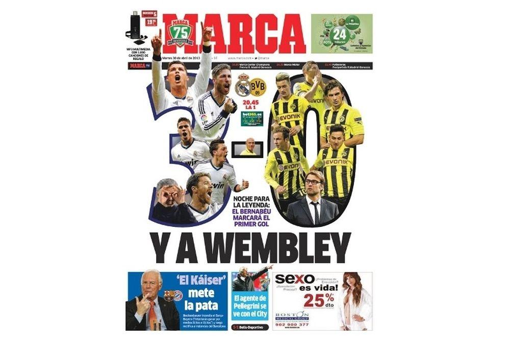 Ρεάλ Μαδρίτης: «3-0 την Ντόρτμουντ»