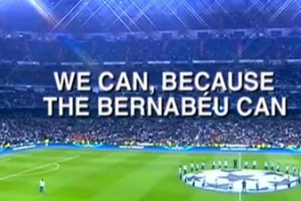 Ρεάλ Μαδρίτης: «Μπορούμε, επειδή το Μπερναμπέου μπορεί...» (video)