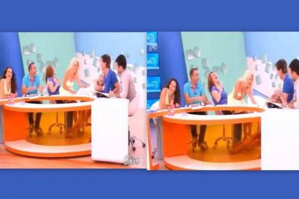 Απολαυστικό βίντεο: Η Μενεγάκη έριξε κάτω τη συνεργάτιδά της, Αντωνία Καλλιμούκου!
