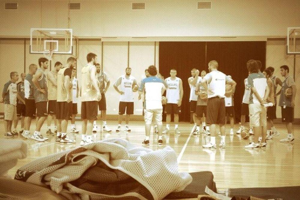 Εθνική Μπάσκετ Ανδρών: Οι πρώτες εικόνες από το Καρπενήσι (photos+video)