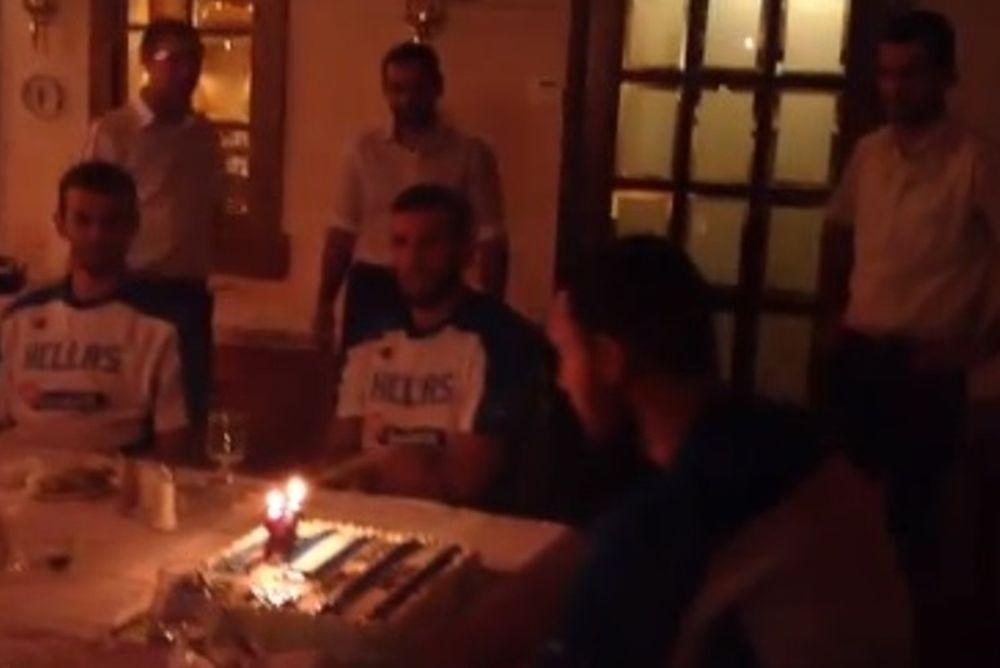 Εθνική Μπάσκετ Ανδρών: Έσβησε τα κεράκια ο Μαυροκεφαλίδης (video)