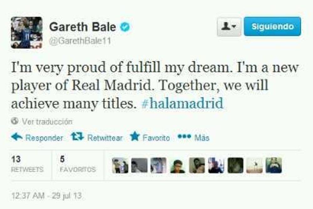 Μπέιλ: «Hala Madrid!»