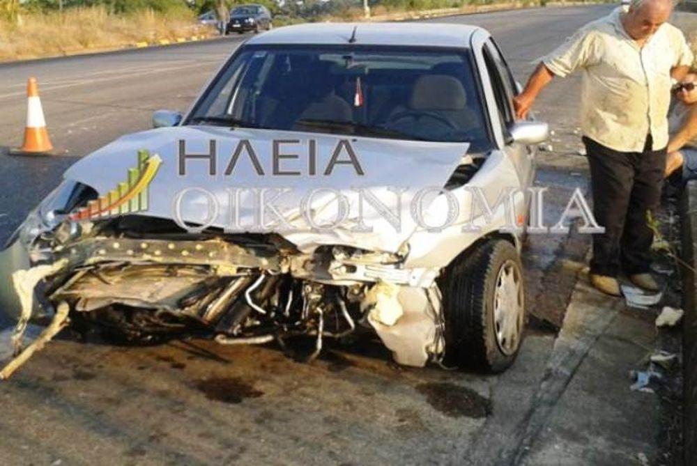 Σφοδρή σύγκρουση ΙΧ-Οδηγός έκανε αναστροφή στην ΕΟ (pics)