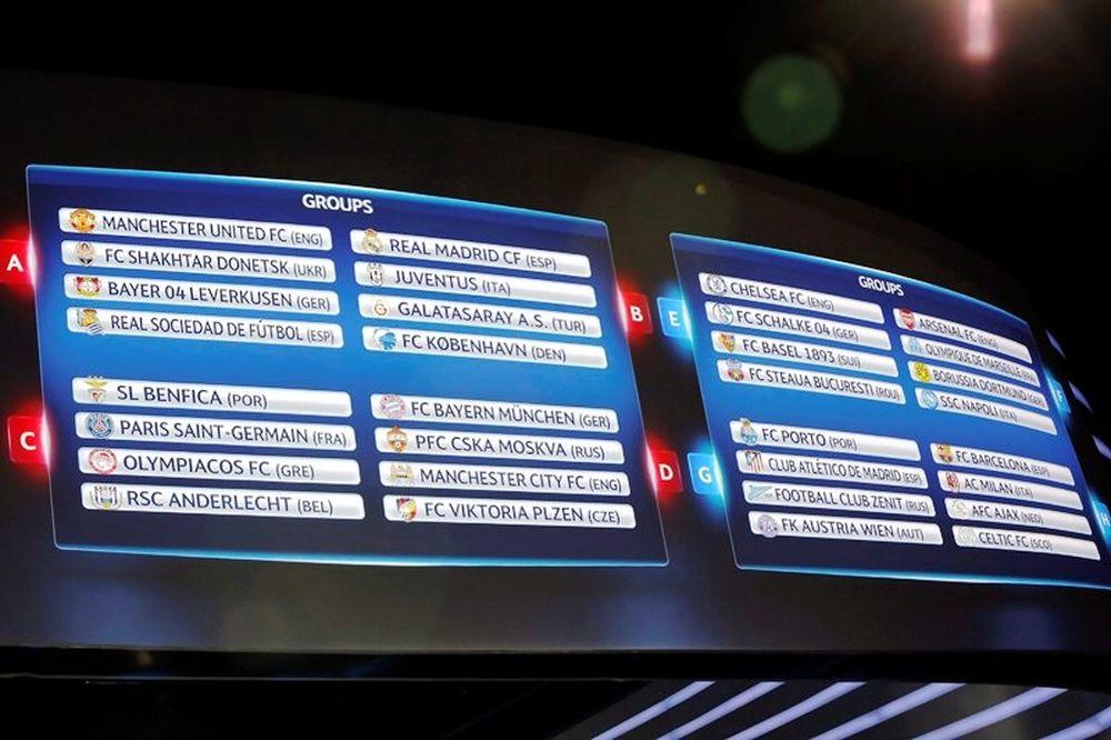 Champions League: Το πρόγραμμα των ομίλων