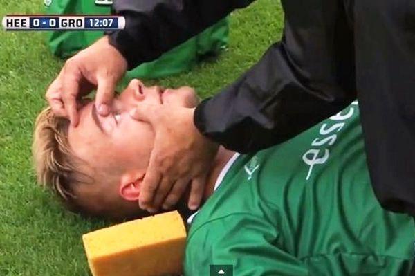 Παίκτης λιποθύμησε μετά την αποβολή του! (video)