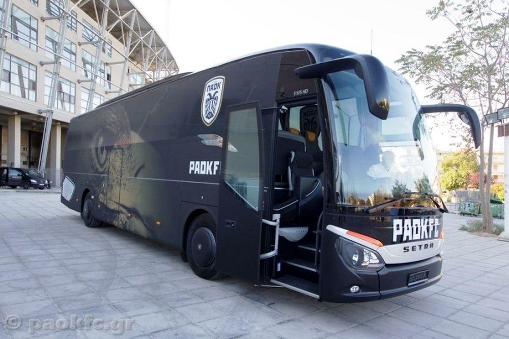 ΠΑΟΚ: Στη... κυκλοφορία το νέο λεωφορείο
