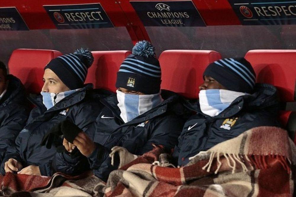 Μάντσεστερ Σίτι: Με… καρό κουβέρτες στον πάγκο! (photos)