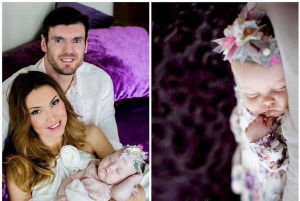 Ζαλγκίρις Κάουνας: Δείτε τη σέξι σύζυγο του Λαβρίνοβιτς και το πανέμορφο μωράκι τους (photo)