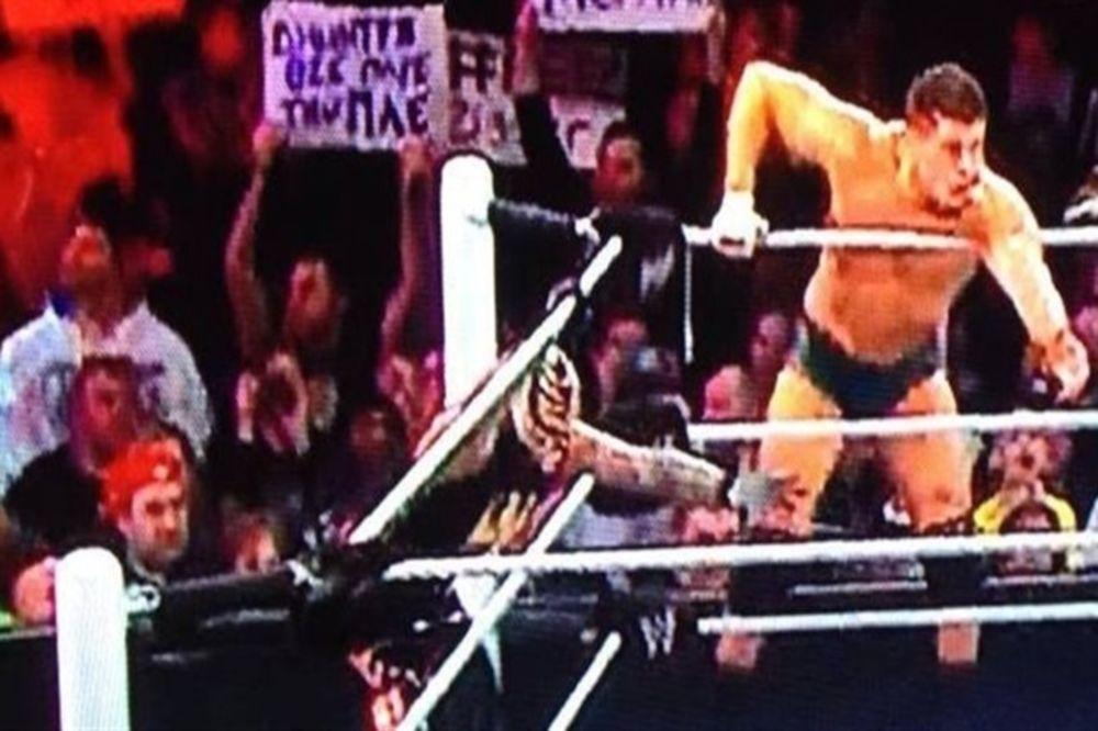 Πλακάτ υπέρ Γιαννακόπουλου στο WWE (photo)