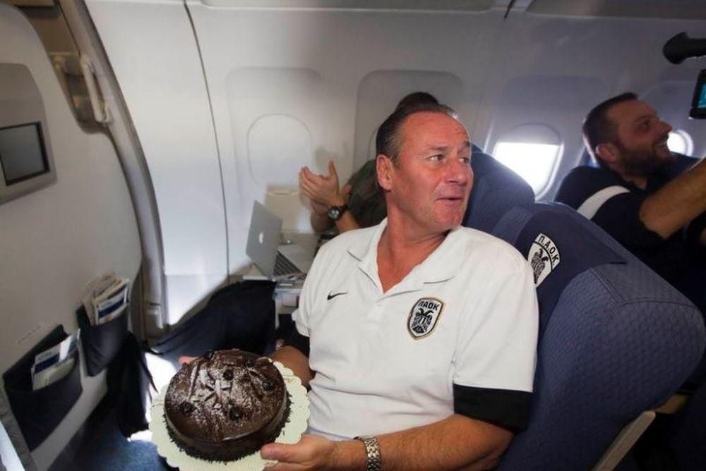 ΠΑΟΚ: Το πάρτι στο αεροπλάνο για Στέφενς (photos+video)