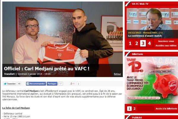 Βαλενσιέν: Ανακοίνωσε Μεντζανί (photo)