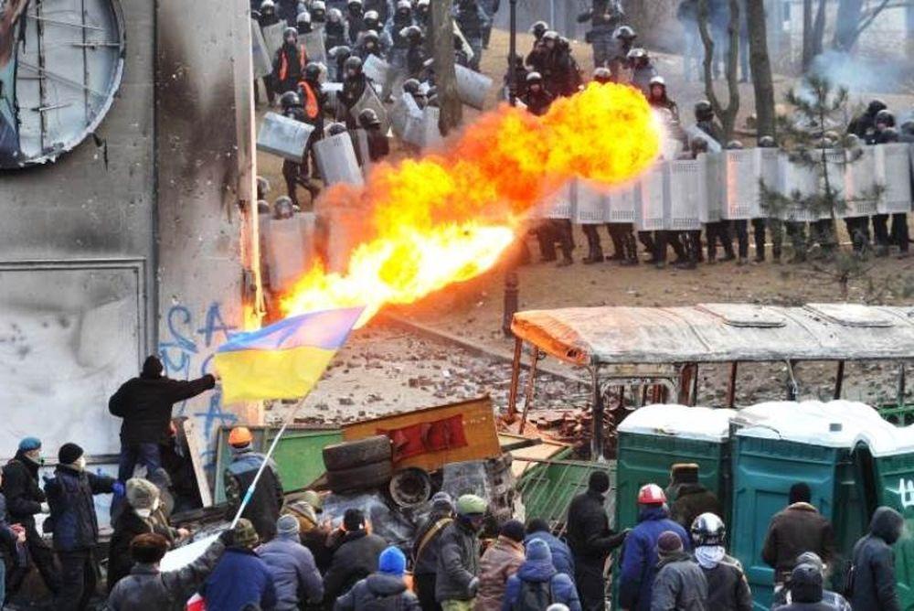 Φωτιά στο γήπεδο της Ντιναμό Κιέβου (video)