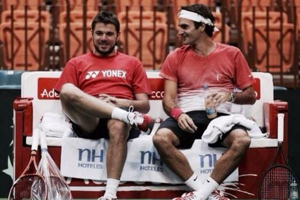 Davis Cup: Τα είπαν Βαβρίνκα – Φέντερερ (photos)