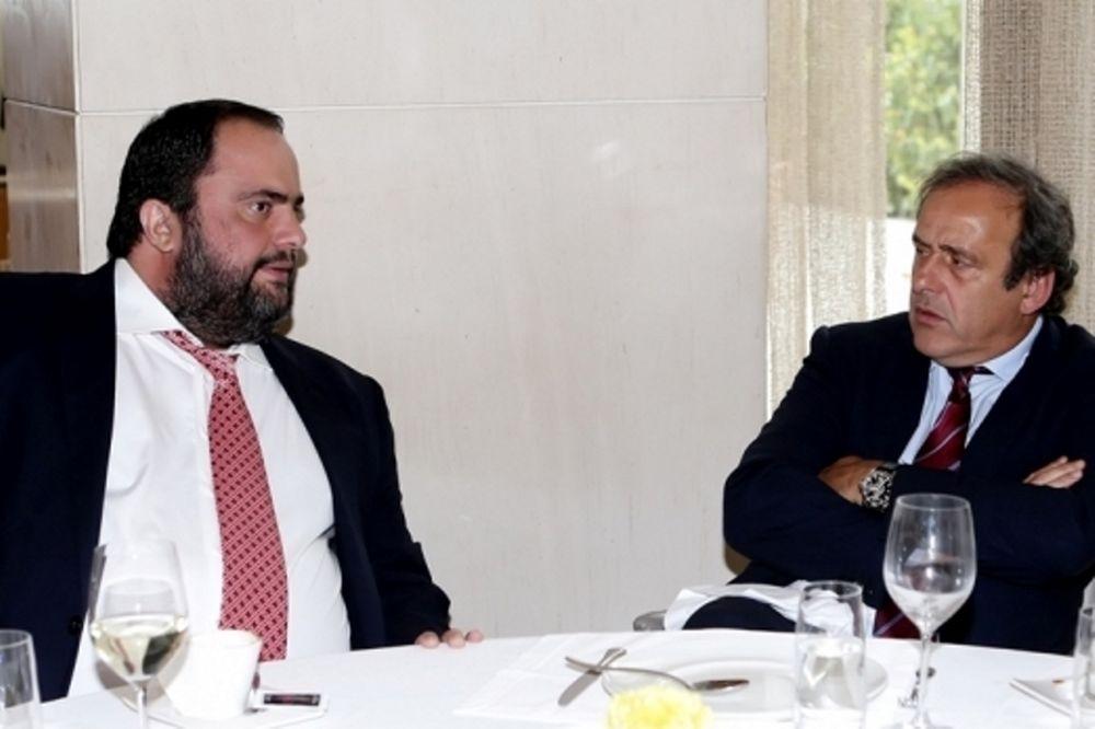 Ολυμπιακός: Τα είπαν Μαρινάκης και Πλατινί (photos)